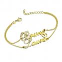 Bracelet personnalisé double prénom