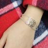 Bracelet monogramme personnalisé double chaîne