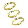 Bague personnalisée triple anneaux