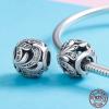 Charm fleur avec perles en cristal - Argent S925