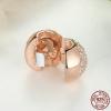 Charm clip cœur scintillant couleur or - Argent S925