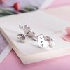 Boucles d'oreilles cœur avec initiales