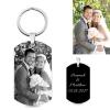 Porte-clés plaque photo et gravure - Acier Titane