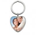 Porte-clés coeur photo personnalisée - Acier Titane