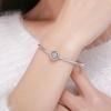 Bracelet à Charms fermoir petits coeurs Argent 925 et zircon