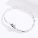Bracelet à Charms fermoir cœur avec infini - Argent S925