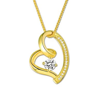 Collier cœur d'Amour - pierre de naissance
