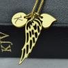 Collier Aile d'ange personnalisé avec initiale