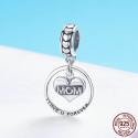 Charm pendentif Maman je t'aime pour toujours - Argent S925