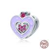 Charm cœur d'Amour resplendissant - Argent S925