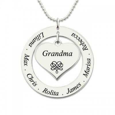 Collier cercle pour Maman ou Grand-mère