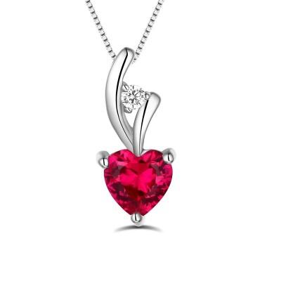 Collier cœur personnalisé avec pierre de naissance