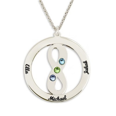 Collier cercle avec symbole infini personnalisé