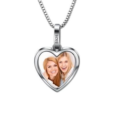 Collier cœur personnalisé avec photo - Argent 925