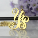 Collier monogramme deux initiales