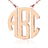 Collier monogramme style moderne